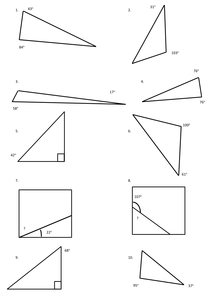 angles in triangle worksheet by michaelgrange uk teaching resources tes. Black Bedroom Furniture Sets. Home Design Ideas