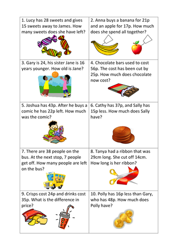 Subtraction Worksheets Subtraction Worksheets Ks2 Word Problems