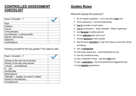 GCSE Controlled Assessment Pupil checklist