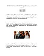 Romeo & Juliet: Juliet's Character Development