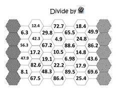 dice game boards 6 divide decimals.docx