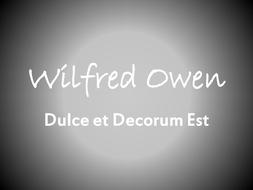 dulce et decorum est worksheet pdf