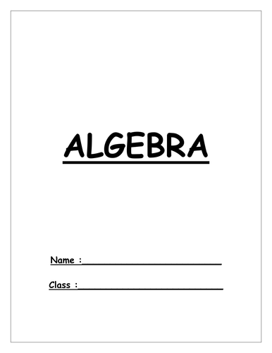 maths ks3 year 7 algebra booklet homework by missjojostm teaching resources tes. Black Bedroom Furniture Sets. Home Design Ideas