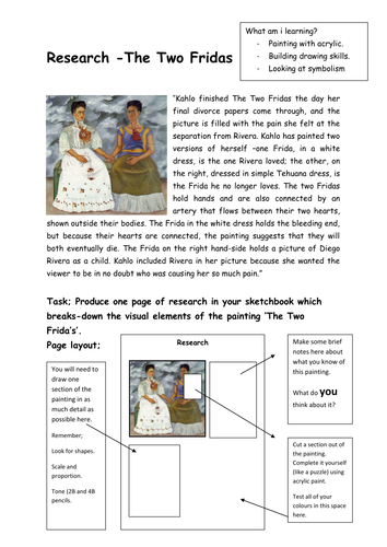 Worksheets Frida Kahlo Worksheets frida kahlo activityinformation worksheets by slafhaj teaching resources tes