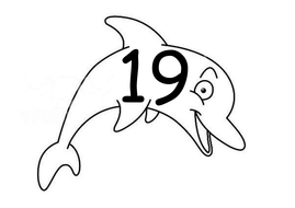 Numbers 1 - 20 on Dolphins