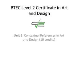 Presentation for Unit 1 BTEC Level 2 Certificate