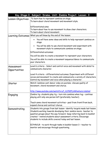 poetry essay planning sheet