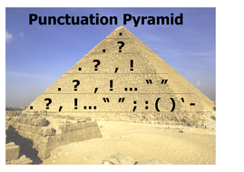 Punctuation Pyramid