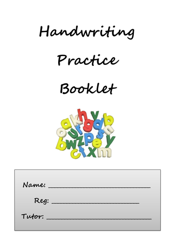 Handwriting Practice Booklet by carwyn_davies - Teaching Resources ...