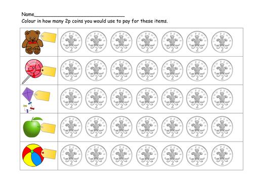 Money counting in 2p (Y1) and in 1p for LA by L_E1984 - Teaching ...