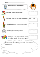 What can you do in 1 minute? Differentiated (Y1/2)