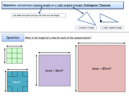 GCSE  (Ages14-16) Maths: Pythagoras lesson