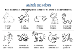 animals colours task by rosaespanola teaching resources. Black Bedroom Furniture Sets. Home Design Ideas