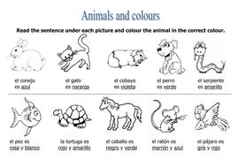 Animals & colours task by rosaespanola - Teaching Resources - Tes