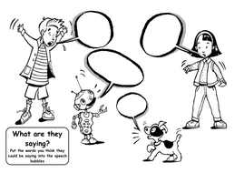 Speech Bubble- What are they saying?