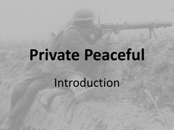 Private Peaceful- 1st lesson
