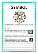 Lesson on world faiths - summaries & worksheets