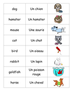 animal matching game french by sandiejones teaching resources tes. Black Bedroom Furniture Sets. Home Design Ideas