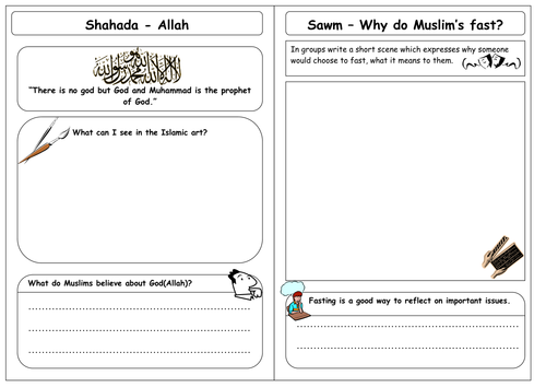 Five Pillars of Islam Resources by stephana Teaching Resources TES – Five Pillars of Islam Worksheet