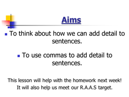 Use of Commas for Clauses by jbdevon | Teaching Resources