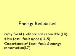 Energy resources ppt, practical and video by yoconnor93