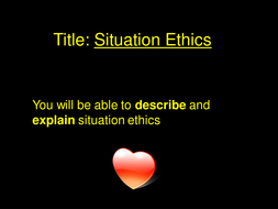 Situation Ethics and Christianity