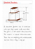 Calculating compound volume: Chocolate Fountain