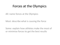 Forces at the olympics activity