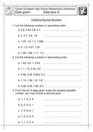 KS3 Maths Ordering Decimals worksheet by jlcaseyuk - Teaching ...