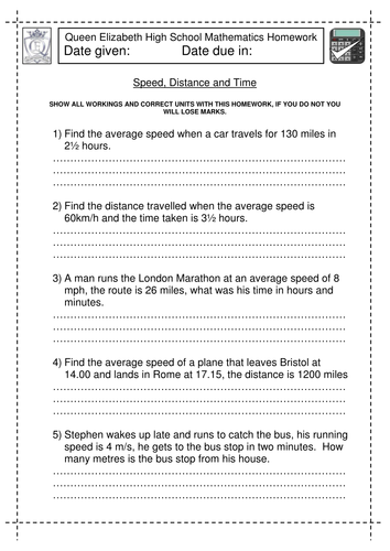 speed distance and time worksheet by jlcaseyuk teaching resources tes. Black Bedroom Furniture Sets. Home Design Ideas