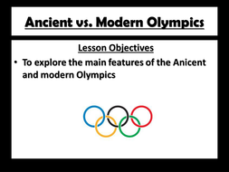 Olympics games- ancient to modern