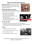 Charles I execution news report task.docx