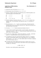 KS5 Maths Core 1  Applications of Differentiation
