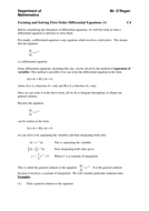 KS5/Core 4/C4: First Order Differential Equations
