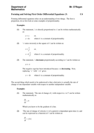 Forming and Solving First Order Differential Equations - Notes (3).doc