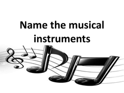 Name the musical instruments ppt