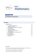 Maths Alevel C1/ Scottish Higher Differentiation