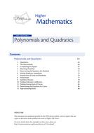 KS5 Maths/Scottish Higher Polynomials & Quadratics