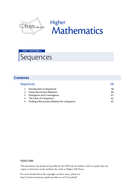 Maths Alevel C2/Scottish Higher unit 1/ Sequences