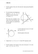 Scottish Highers Maths/KS4 Maths Core 1 - Circles