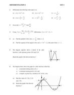 Maths KS5/Core 1/Scottish Highers Differentiation
