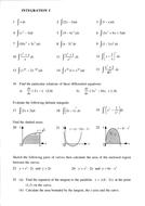 Maths KS5/core 2/C2/ Scottish Highers Integration
