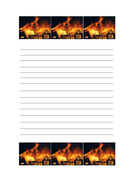 The great fire of london writing paper