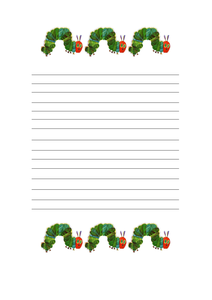 The very hungry caterpillar writing paper resources tes for Very hungry caterpillar templates free