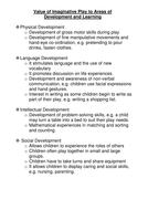Value of Imaginative Play to Areas of.doc