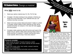 Student Voice- Design a Module