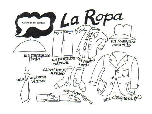 La ropa by mmullen - Teaching Resources - TES