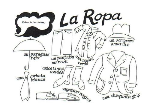 {La ropa by mmullen Teaching Resources TES – La Ropa Worksheet