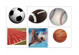 Sport bingo boards x 8