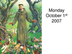 St. Francis of Assisi Prayers Day 1